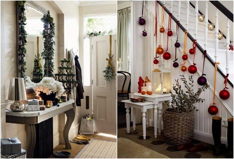 Eingang weihnachtlich dekorieren klassisch schön