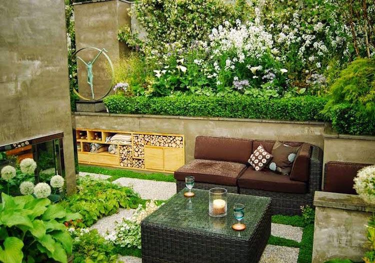 amenager petit jardin salon jardin osier sculpture moderne comment amenager le petit jardin 18 idees inspirantes