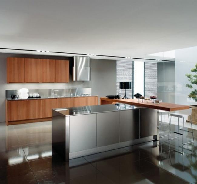 cuisine avec ilot central moderne ou