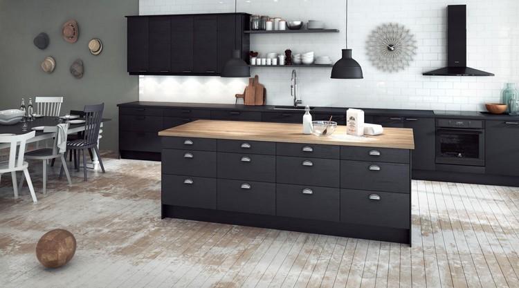 cuisine noire 28 idees de design