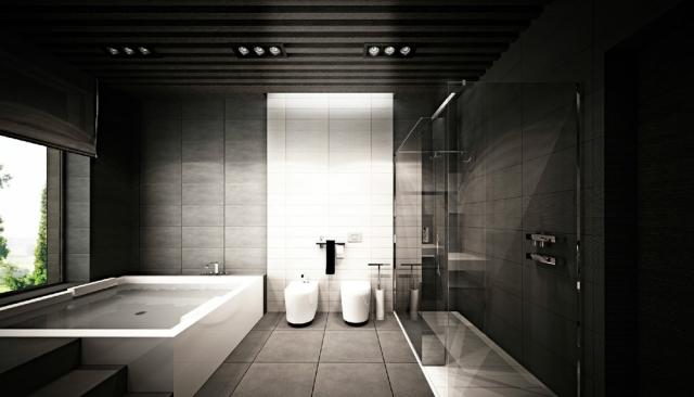 salle de bain design et de luxe une