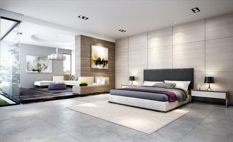 coucher moderne avec une touche design