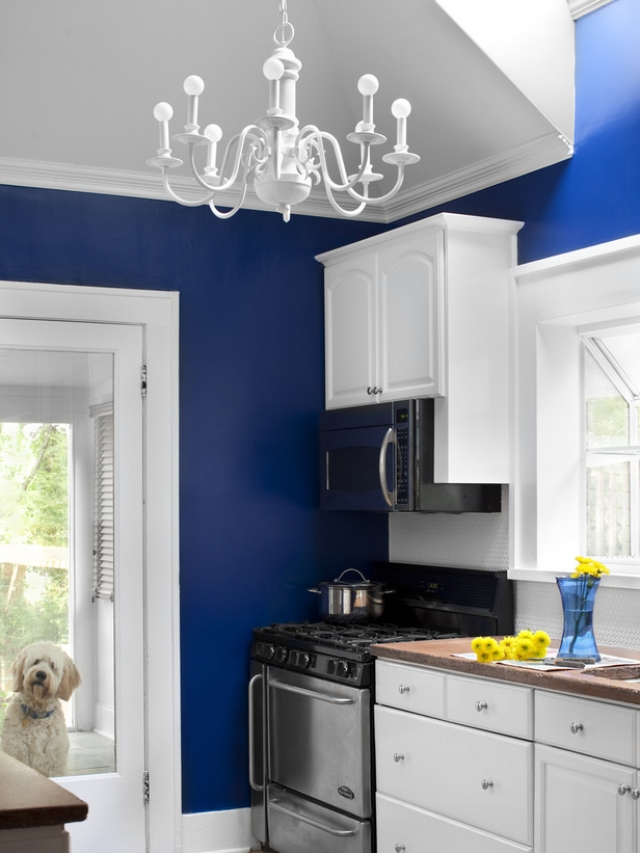 Light blue and white kitchen ideas. cabinet to the ceiling sky ...