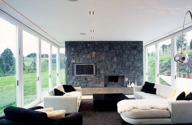 Art Deco Room Design Ideas. un salon moderne en noir et ...