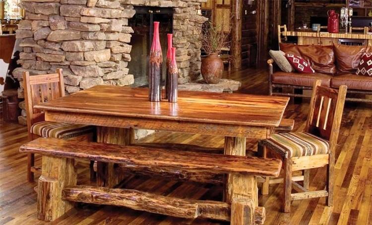 Table En Bois Massif Brut 28 Tables Manger Rustiques