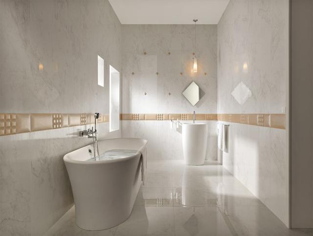 carrelage de salle de bains original