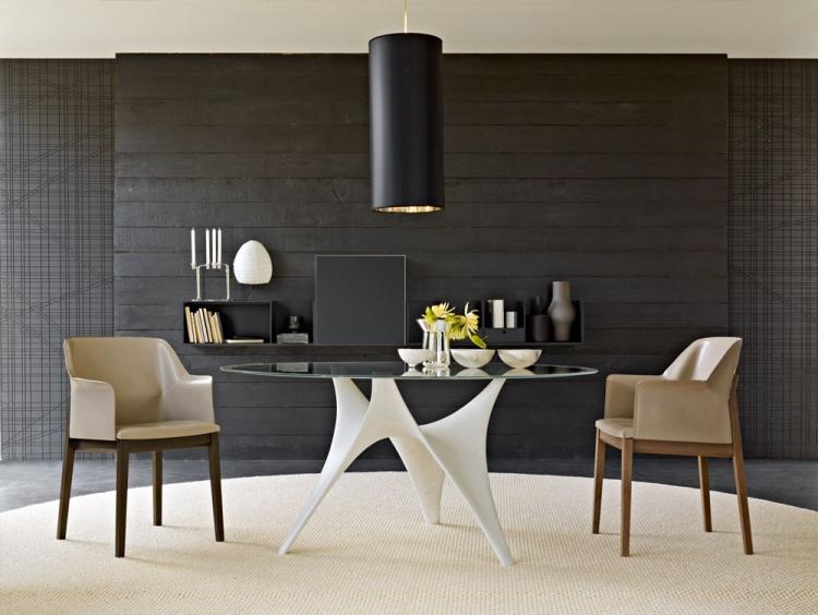 Table Ronde En Verre De Design Moderne LArc Par Molteni