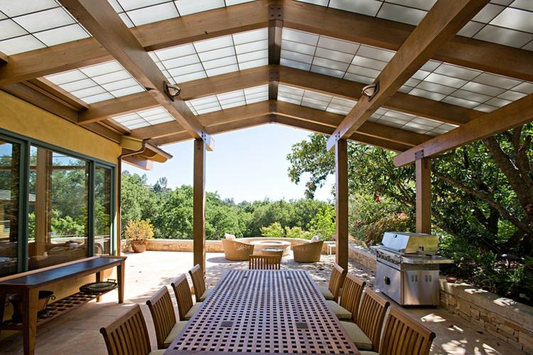 Terrasse Couverte 30 Ides Sur Lauvent En Bois Et La