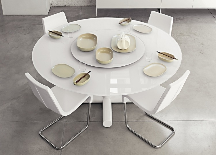 table ronde pour chaque coin de votre