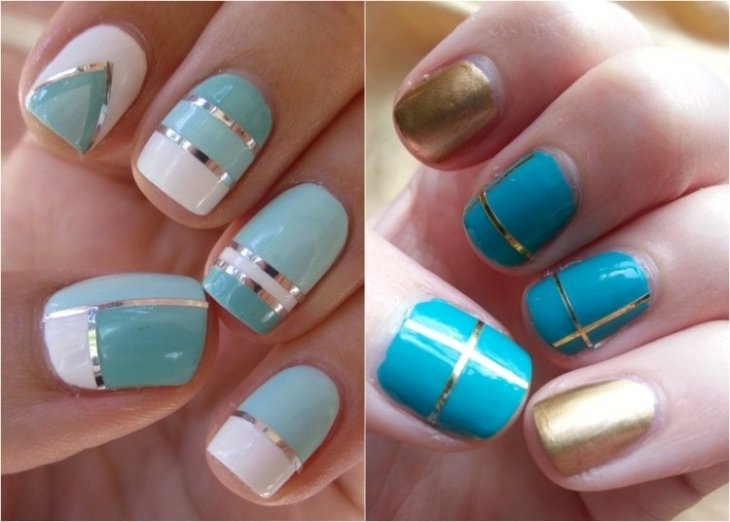 deco-ongles-bande-de-striping-tape-vernis-or-bleu