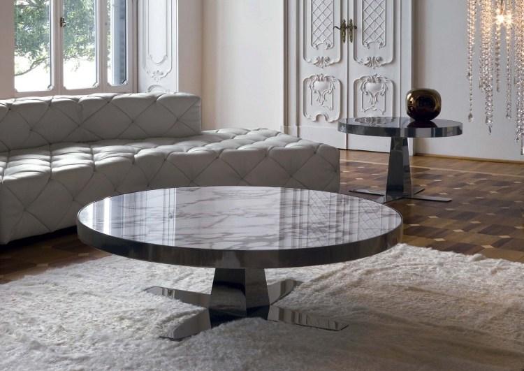 Table Basse Design En Blanc Brillant 30 Ides Super Tendance
