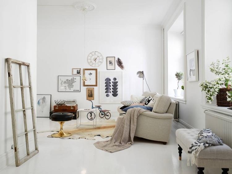 Mobilier De Salon Blanc Ides De Dco Et Amnagement