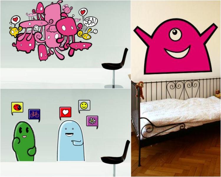 42 stickers muraux graffiti pour la
