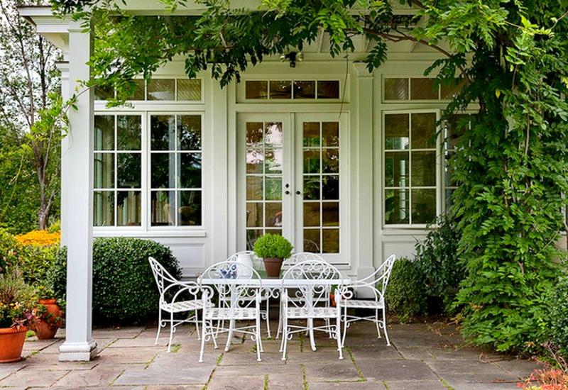 table et chaises de jardin en fer forge