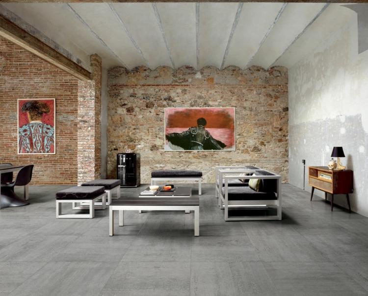 carrelage gris mural et de sol 55