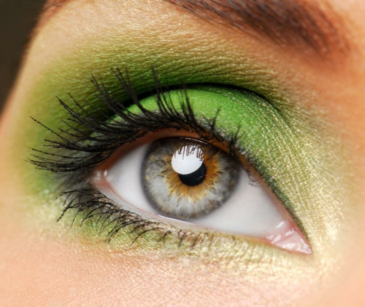 idees-maquillage-ete-mascara-fard-paupières-vert idées maquillage