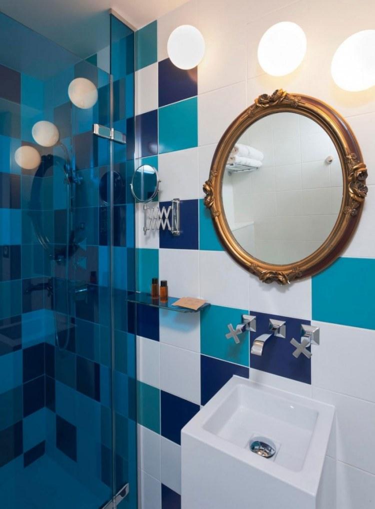Salle De Bain Bleu Turquoise Et Gris | Unixpaint