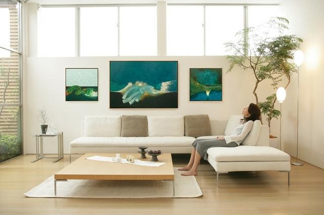 Tableau Art Contemporain Accent Dans Lintrieur Moderne