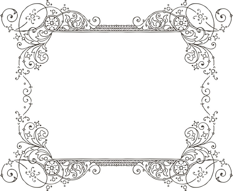 Old Fashioned French Envelope Border
