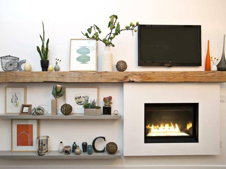 fixation murale tv et cheminee sur le