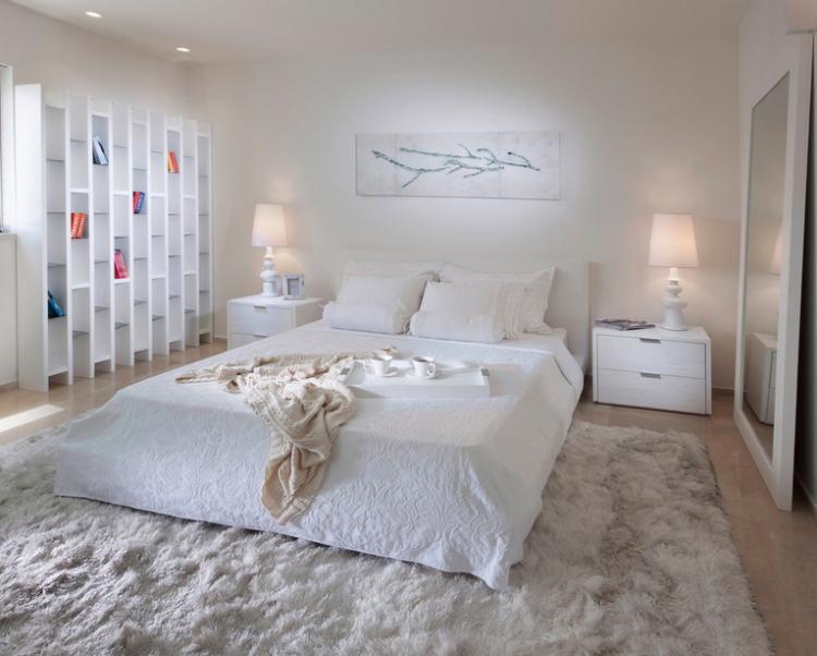 tapis shaggy gris beige ou blanc en