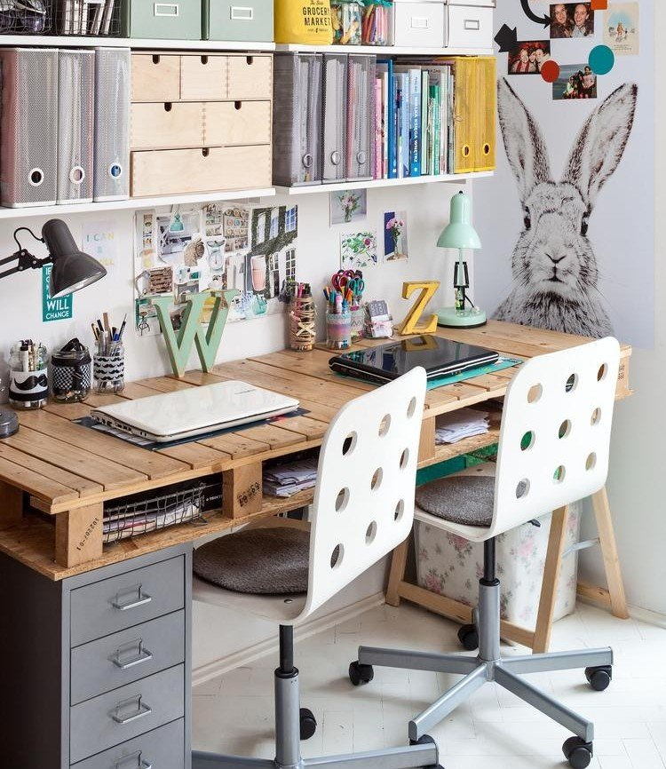 bureau en bois 34 idees diy tres cool en palette europe