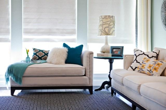 décoration salon coussins tableaux tapis stores- idées textile maison