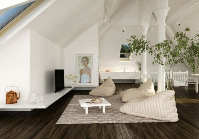decoration-salon-loft-plantes-vertes-accent-fpoufs-poire-beige-table-basse-blanche