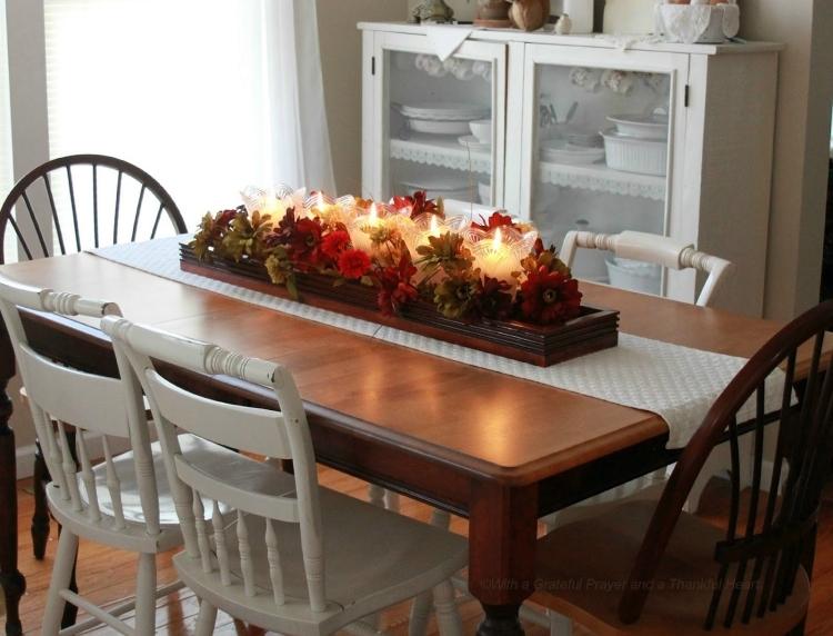 decoration de table automne idees avec