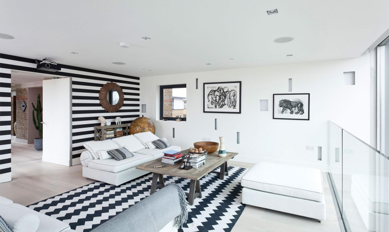 salon noir et blanc 25 inspirations