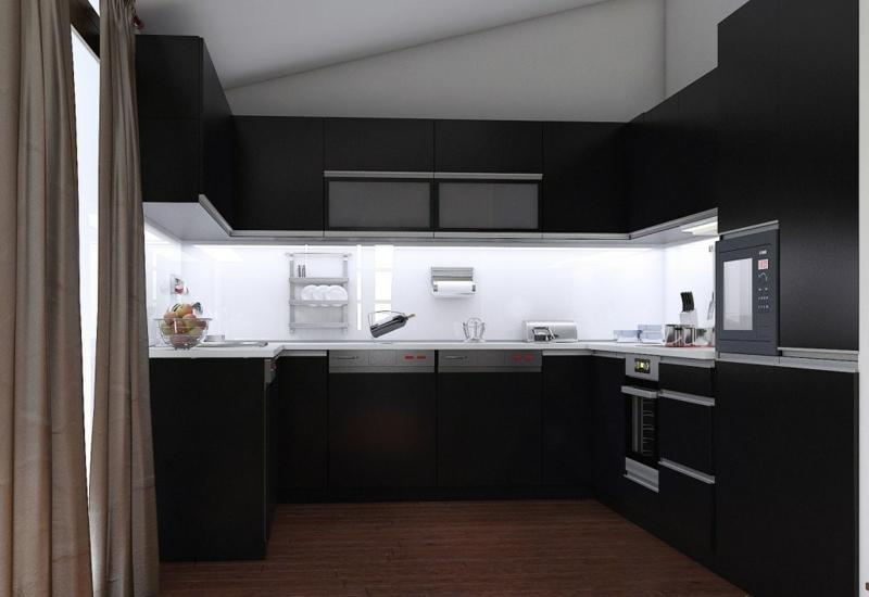 Cuisine Noire Mat Et Cuisine Noire Et Blanche 48 Inspirations