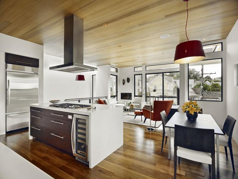 cuisine ouverte sur salon en 55 idees open space superbes design interieur 1 54