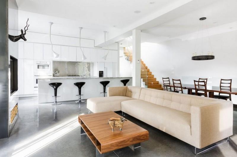 cuisine ouverte sur salon en 55 idees open space superbes design interieur 2 54