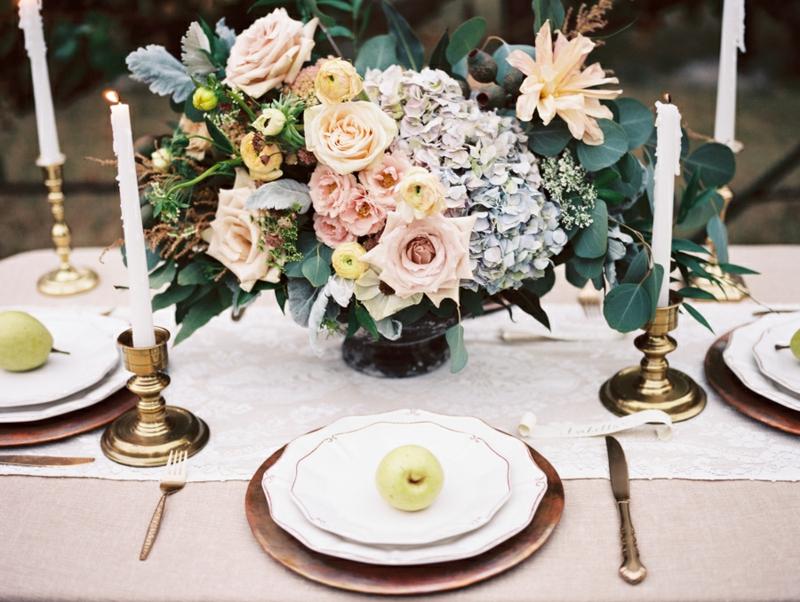 Dcoration Florale Pour Table Ides Mariages En Automne