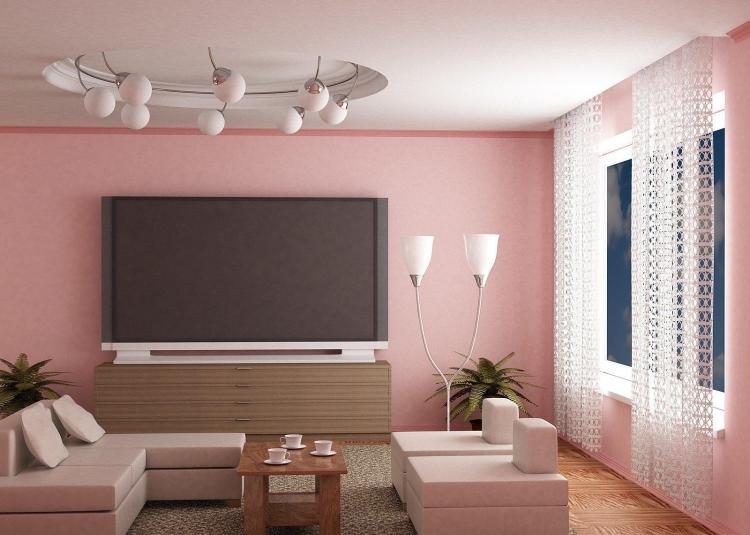 peinture rose nuance pour les murs dans