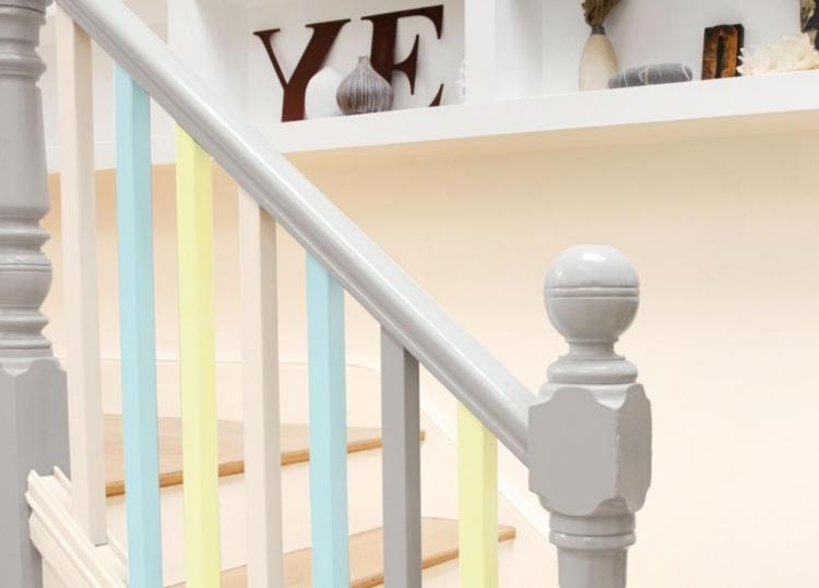 rambarde escalier coloree comme accent