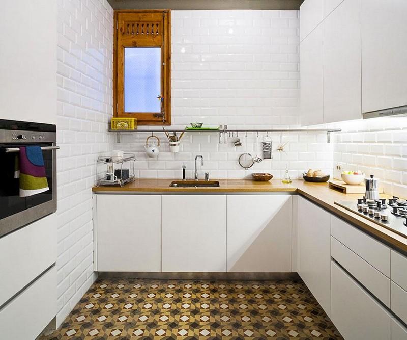 carrelage metro blanc dans la cuisine