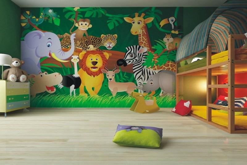fresque murale dans la chambre d enfant