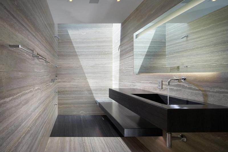 salle de bain travertin le chic noble