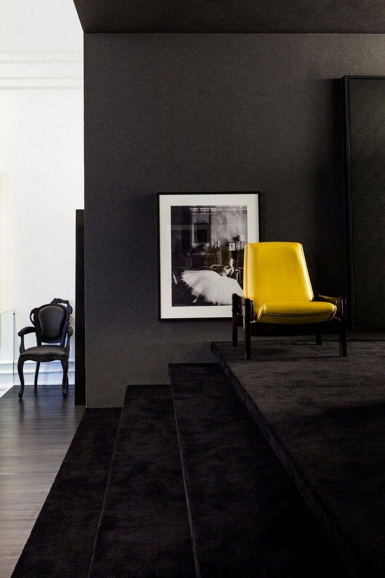 Salon Taupe Et Noir Moble Top
