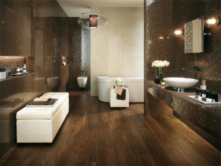 carrelage sol salle de bain imitation