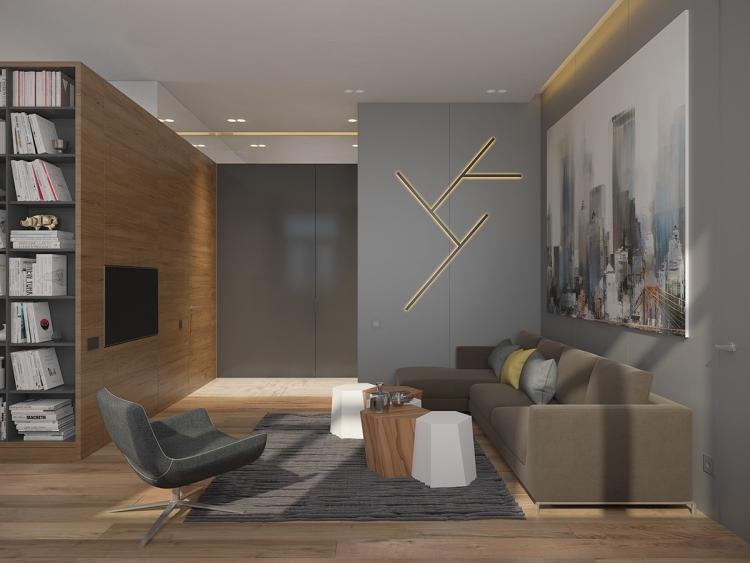Taupe Couleur De Peinture Pour Salon Moderne Couleur Gris Taupe Bois Massif Et Deco Geometrique