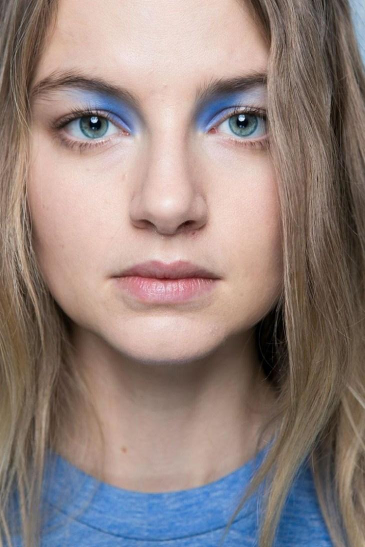 maquillage tendance 2016 yeux fard paupières bleu sérénité
