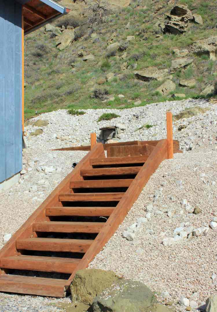 escalier de jardin a construire etape