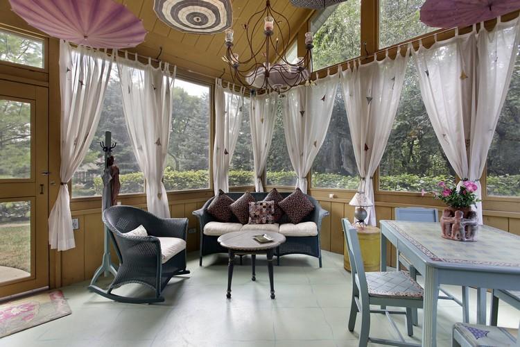 rideau veranda et voilages exterieurs