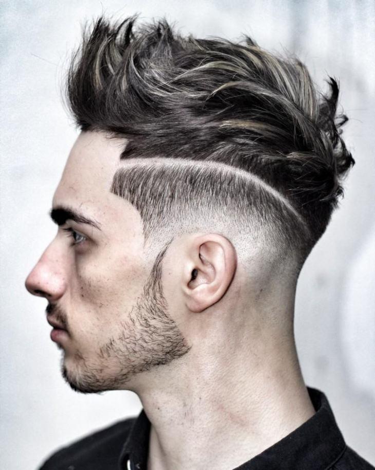 coiffure homme tendance -undercut-cheveux-hérissés