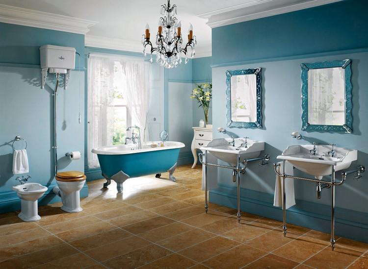 salle de bain retro et meubles vintage