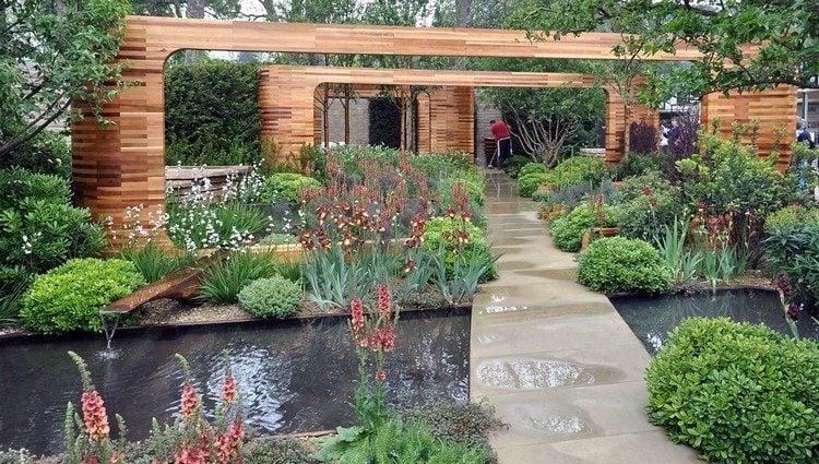 jardin contemporain et deco originale