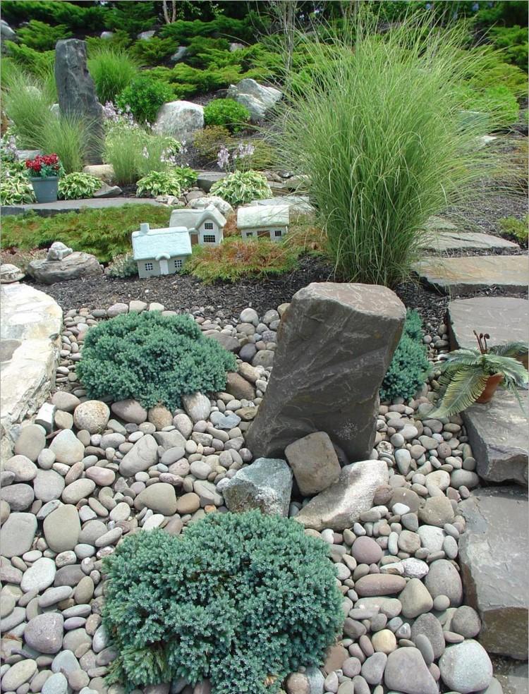 jardin de rocaille et deco en pierre