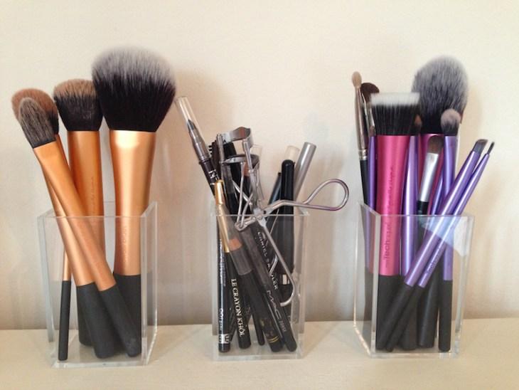 rangement maquillage simple-pratique-pinceaux-formes-tailles-variées